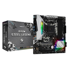 Motherboard ASRock B450M Steel Legend AMD AM4  4 x DDR4 DIMM Max. 64GB DisplayPort, HDMI