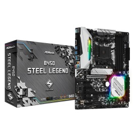 Motherboard ASRock B450 Steel Legend AMD AM4  4 x DDR4 DIMM Max. 64GB DisplayPort, HDMI