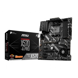 Motherboard Msi X570-A PRO AMD AM4 4 DDR4 Max 128GB HDMI