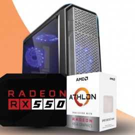 PC GAMER AMD Athlon 200ge Radeon RX550 8GB 480GB SSD
