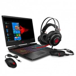 Notebook Gamer HP Core i7, 8GB, GTX 1660ti 6GB, 1TB+256GB SSD, 15.6 FHD (Mouse HP OMEN 400 y Auriculares HP OMEN 800)