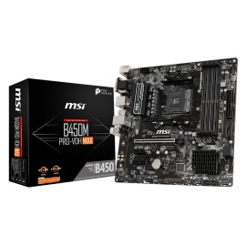 Motherboard MSI B450M PRO-VDH MAX AMD AM4 4x DIMM DDR4 Max. 128GB VGA DVI-D port HDMI